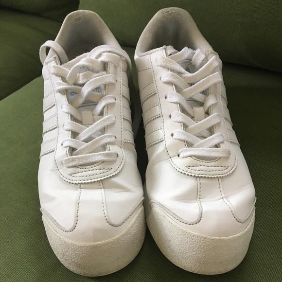 Vintage Adidas White Sneakers Samoa 85